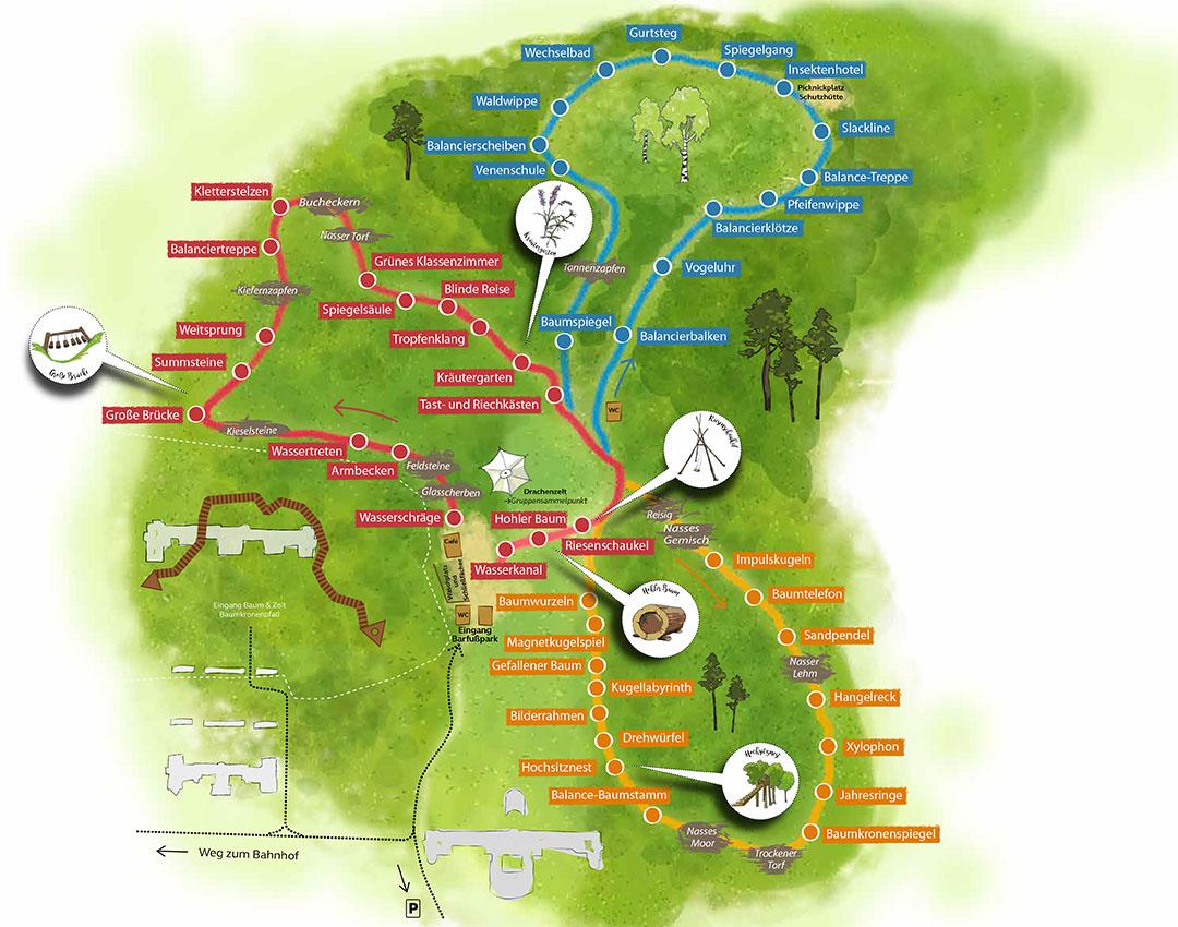 Laufplan Barfusspark