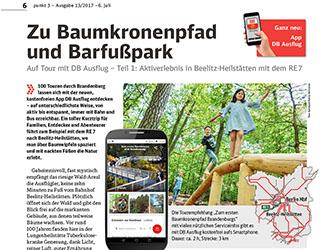 Der Barfußpark Beelitz-Heilstätten bei der Mitteldeutschen Zeitung